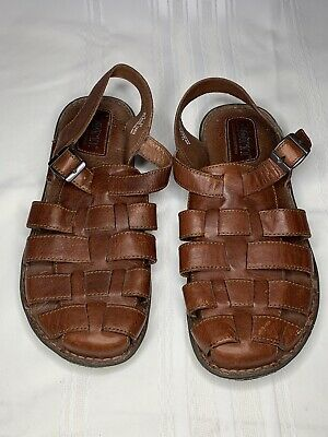 57eb6e4a5485 Born Brown Leather Hiking Outdoor Shoes Sandals Size 11 Men s