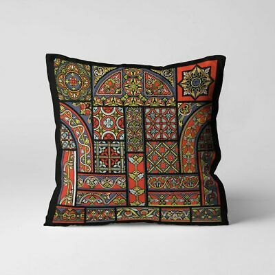 Middle Ages Pattern Throw Pillow