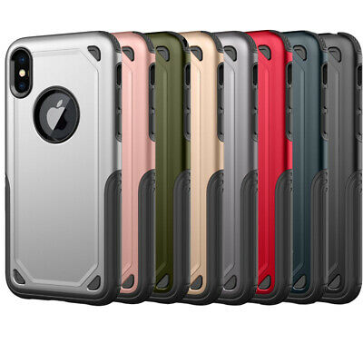 Shockproof Hybrid Tough PT+TPU Case Cover for Apple iPhone XS Max XR 7 8 6S Plus