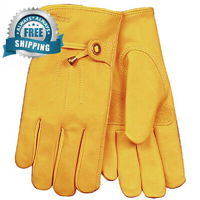 KINCO 199-XL Men's Unlined Premium Grain Cowhide Gloves, X-Large, Golden