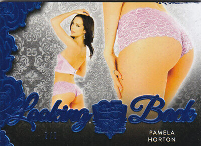 2019 Benchwarmer 25 Years Pamela Horton Blue Foil Looking Back Butt Card /2