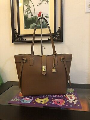 ee92f99d98d7 NWT Michael Kors Large Leather Tote Cassie Bag Handbag In Luggage  398