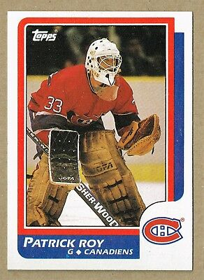 1986-87 TOPPS #53 Patrick Roy Rookie Card RC Montreal Canadiens
