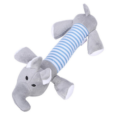 Pet Puppy Chew Squeaky Sound Toys Squeaker Cute Gray Elephant For Dog Best Gift