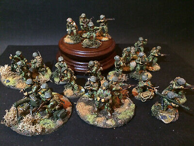 Bolt Action 28mm WW2 US 2nd Armored Division 24 men army plastic Painted