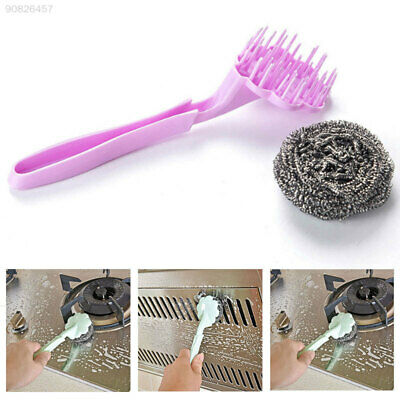 BD3A Hanging Kitchen Oil Stain Wire Ball Brush Contemporary Stainless Steel
