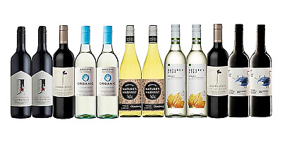 White & Red Wine Mixed Organic Pack Big Brand Special 12x750ml Free Delivery