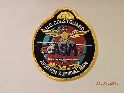 US Coast Guard ASM Aviation Survival Man 1965-1998 USCG Military Patch #100
