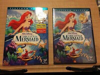 The Little Mermaid (DVD, 2006, 2-Disc Set, Platinum Edition) Brand New! Sealed!