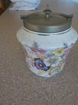 Antique Biscuit Barrel Over 100 Years Old