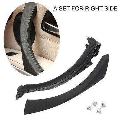 Inner Front Door Panel Handle Pull Trim+Cover For BMW E90 E91 Right Side Black