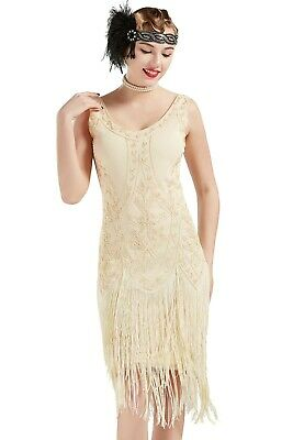 Adult Women/'s 1920/'s Vintage Style Fringed Flapper Gatsby Cosplay Costume Dress