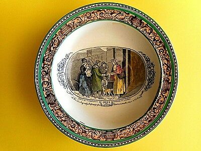 "Vintage Adams ""cries Of London"" Nut Dish,.leda Border/green Trim. Hand Painted"