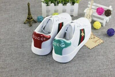 Womens Luxury Lace Up Embroidery Bee Flat Heels Running White Trainers Shoes UK