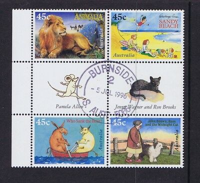 Australian Decimal Stamps 1996 45c Children's Book Council Block 4 Fine Used CTO