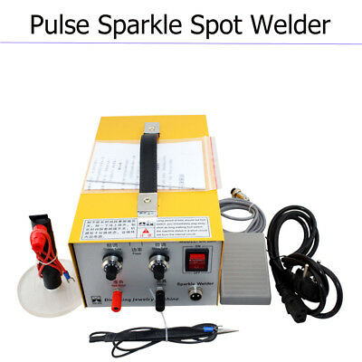 Pulse Sparkle Spot Welder 110V Jewelry Welding Machine Gold Silver Platinum Safe