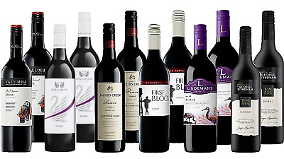 Red Mixed Wine Shiraz Pack - Award Winning Bid Brands 12 x 750ml Free Delivery