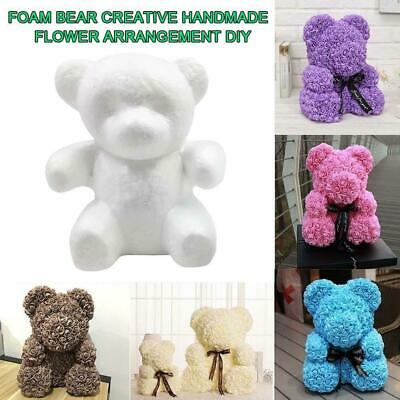 White Foam Bear Creative Handmade Flower Arrangement DIY Bubble Rose Bear