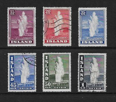 ICELAND 1938 Great Geyser, mint MNG & used