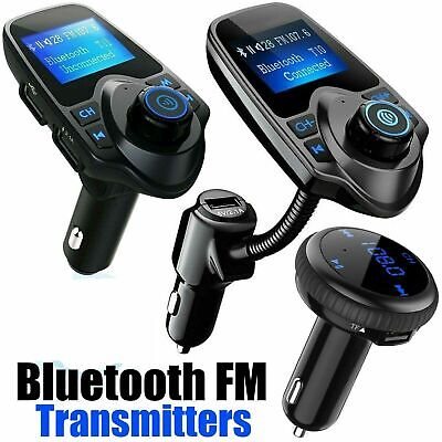 Wireless Bluetooth FM Transmitter Radio Adapter Hands-free Car Kit USB Charger