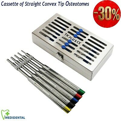 NEW Dental implant Kit Convex Straight Tip Osteotomes Sinus Lift instruments CE