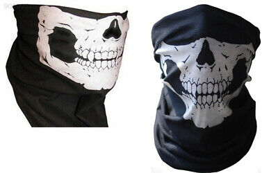 """024A Black+White Width 23cm / 9"""". OEM Hunting Face Mask for Motorcycle Bike"""
