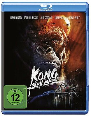 KONG: SKULL ISLAND (Tom Hiddleston, Samuel L. Jackson) Blu-ray Disc NEU+OVP