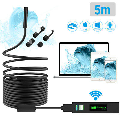 8 LED Wireless Endoscope WiFi Borescope Inspection Camera For Android iPhone UK