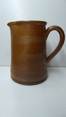Antique French Gres Du Berry Fait Main Pottery Jug #5 Country Kitchen Stoneware