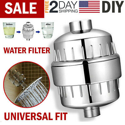 Shower Filter Hard Water Softener Multi Stage Shower Head Filter Remove Chlorine