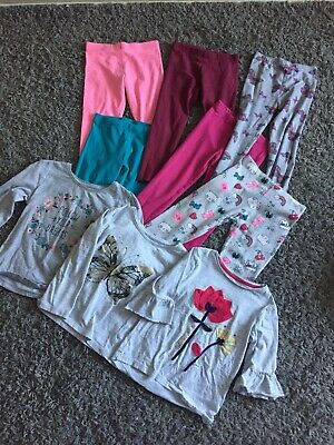 Girls Age 3-4 Bundle Leggings And Tops Primark Tesco Next