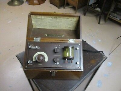 A good old BTH double crystal  radio crystal set in wooden box