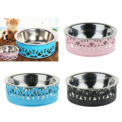 Dog Cat Bowls Stand with Single Bowl Raised Pet Feeder for Small Dogs & Cats