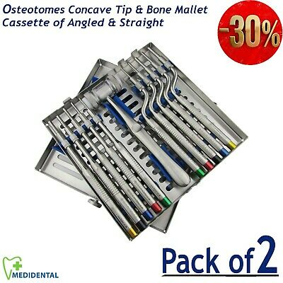 Dental implant Kit Concave Tip Osteotomes Sinus Lift instrument Mead Bone Mallet