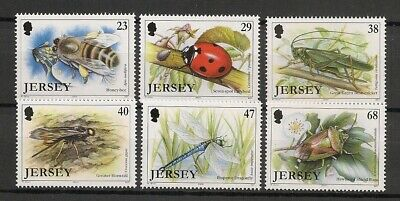 Jersey 2002 Insects Insekten Insectes Insectos Bee Ladybird compl. set MNH