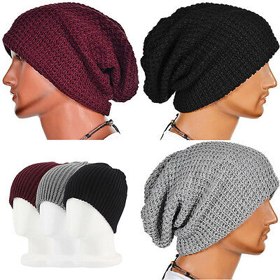 Men Women Warm Oversize Beanie Skull Baggy Cap Winter Slouchy Knit Hat news
