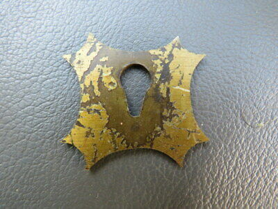 Antique writing slope or box brass escutcheon spares parts