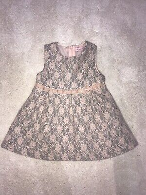 Gorgeous Pink And Grey Spanish Girls Dress 12-28 Months. Perfect Condition.