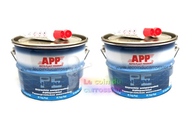 2 X 4 kg Mastic universel garnissant polyester , auto, carrosserie