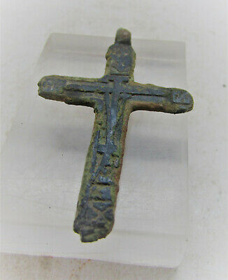 Beautiful Post Medieval Christian Crucifix Cross Amulet Wearable