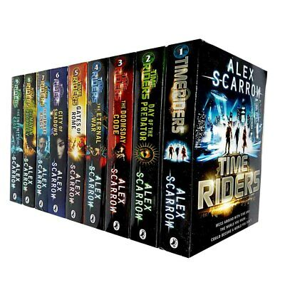 Time Riders City of Shadows Gates of Rome Alex Scarrow 9 Books Collection Set