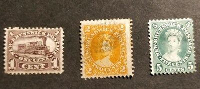 NEW BRUNSWICK classic Queen Victoria used stamp collection Cat £97
