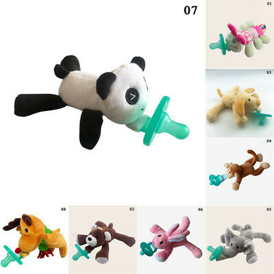 Nipple Months Silicone Baby Infant Newborn Plush Pacifiers Animal Funny Dummy
