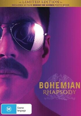 Bohemian Rhapsody Blu-ray + Photo Book - NEW AND SEALED Genuine Aussie Release