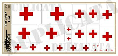 Diorama/Model Accessory - Red Cross Flag - 1/72, 1/48, 1/32, 1/35 Scales