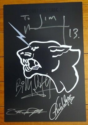 The Cult Electric 13 tour signed lithograph