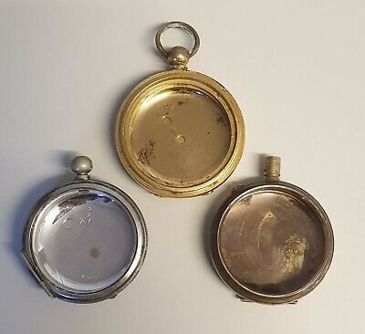 3 x POCKET WATCH CASES