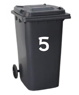2 x A5 letters numbers sticky vinyl self adhesive indoor outdoor bin house flat