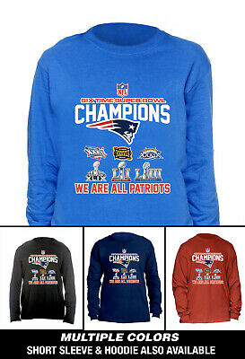 New England Patriots 6 Time Super Bowl Champions Long Sleeve T -Shirt Men's