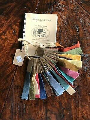 Woolie Dye Recipes with Swatches /The Woolen Willow /Dying Wool for Rug Hooking